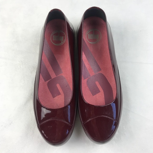 f8b87796ca0 Fitflop Shoes - NWOB FITFLOP Due Patent Leather Ballerina Flat Red