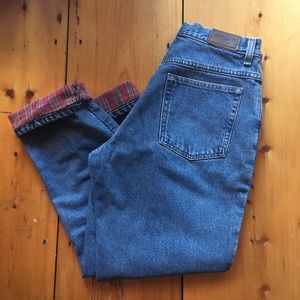 Vintage LL Bean Flannel Lined Jeans