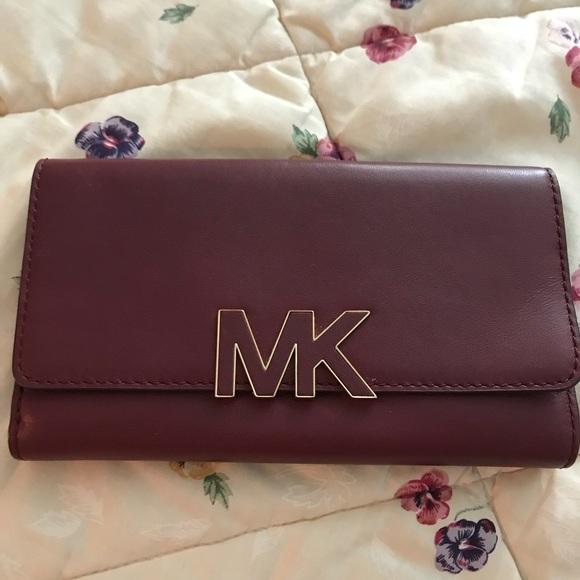 1e8ba533c230 Michael Kors Bags | Florence Wallet Claret Leather | Poshmark