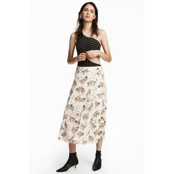 4723becdb2e H m monkey print skirt