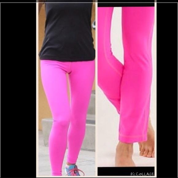 b7a21822d13fe2 lululemon athletica Pants | Hot Pink Lululemon Yoga Barre | Poshmark