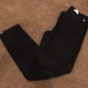 Club Monaco Side Zipper Black Skinny Pants