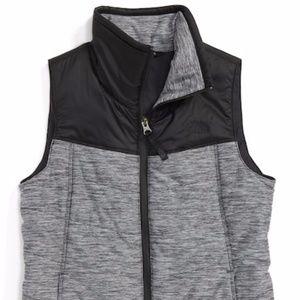 Girls The North Face Pseudio Dark Gray Vest NWT