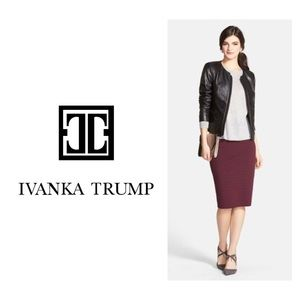 Ivanka Trump Sz S Eggplant Faux Suede Pencil Skirt