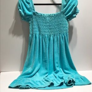 Juicy Couture turquoise smock top dress