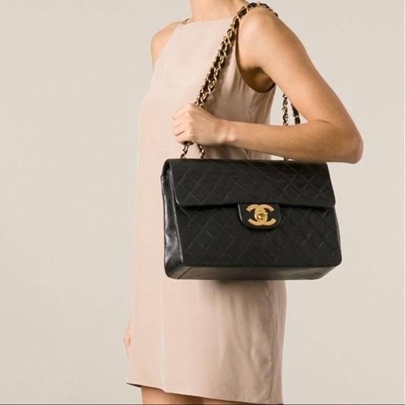 7dc7472d32ecb CHANEL Handbags - Chanel XL Jumbo Classic 2.55 Vintage Black Handbag