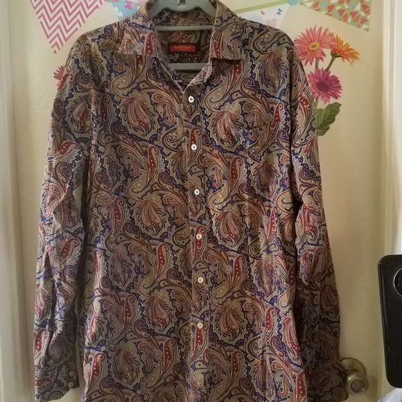 Austin Reed Shirts Austin Reed London Paisley Button Down Shirt Xl Poshmark