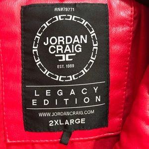 6e77a7d6061816 Jordan Craig Jackets   Coats - Jordan Craig Padded Red Biker Jacket Moto  Thriller
