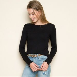 NWT Brandy Melville Black Knit Wool Cecily Sweater