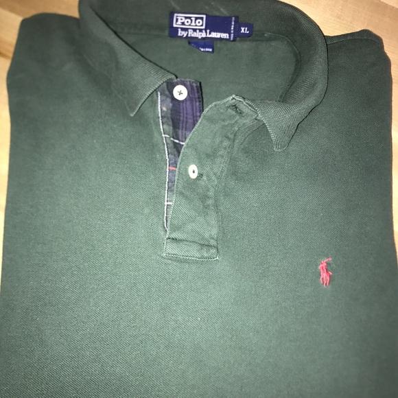ralph lauren grey long sleeve polo shirt vintage ralph lauren