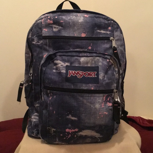 terrific value online shop fine craftsmanship EUC Jansport XL distressed denim backpack
