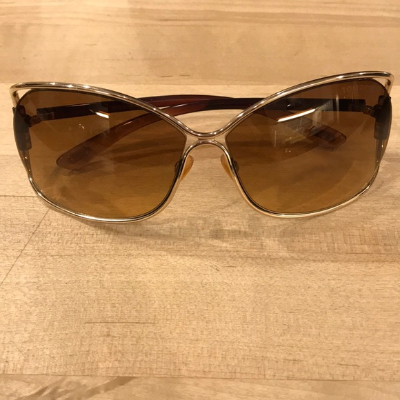 b8f00976498 Tom Ford Eugenia gold and brown sunglasses. M 5a1f78094e8d176eed013a08.  Other Accessories ...