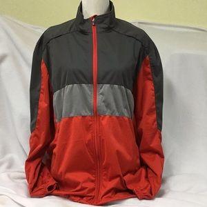 Izod Men's Zip-up Golf Windbreaker Jacket Large