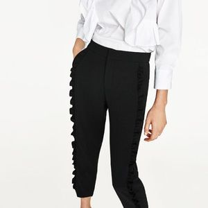 Front filled trousers