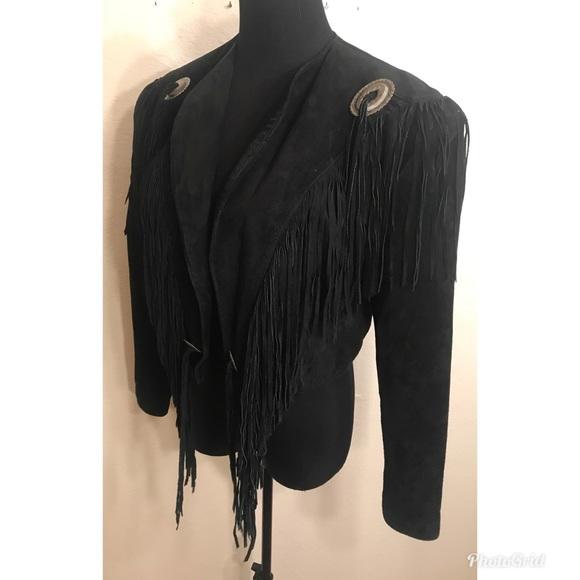Vintage Jackets & Coats - Perfect leather fringe jacket
