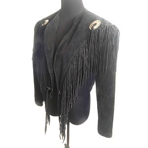 Perfect leather fringe jacket