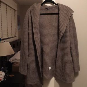 Vince Wool Hooded Cape