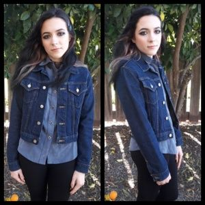 Vintage 80's or 90's dark denim jean jacket