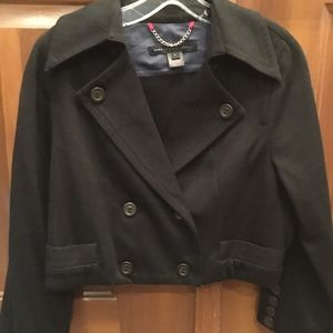 MARC JACOBS double breasted crop blazer L EUC