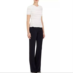 Narciso Rodriguez Stretch Wool Flat Front Trouser