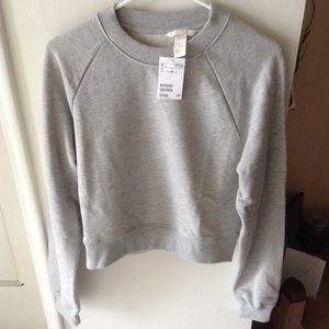New H&M Grey Short Sweatshirt