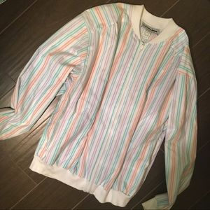 Urban Outfitters Vintage Striped Bomber Jacket