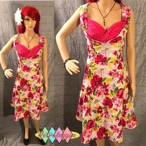 dc44b6de04c ... Pink Floral Ophelia Swing Dress- NWT ...