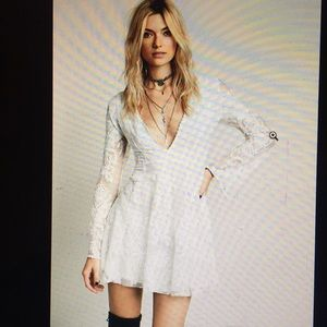 reign over me white free people bell sleeve dress