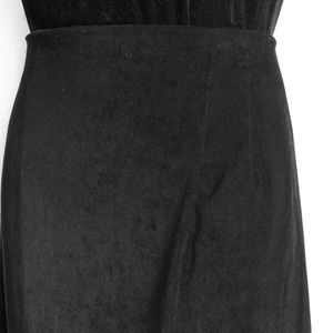 Briggs of New York Skirts - Briggs of New York Velour Black Maxi Skirt Sze 22W