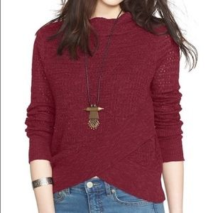 🎉HP🎉 NWT FREE PEOPLE Mock Neck Crossover Sweater