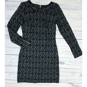 INC Patterned Zip Sleeve dress