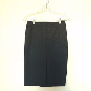 THEORY Wool Blend Skirt Career Pencil Midi 00
