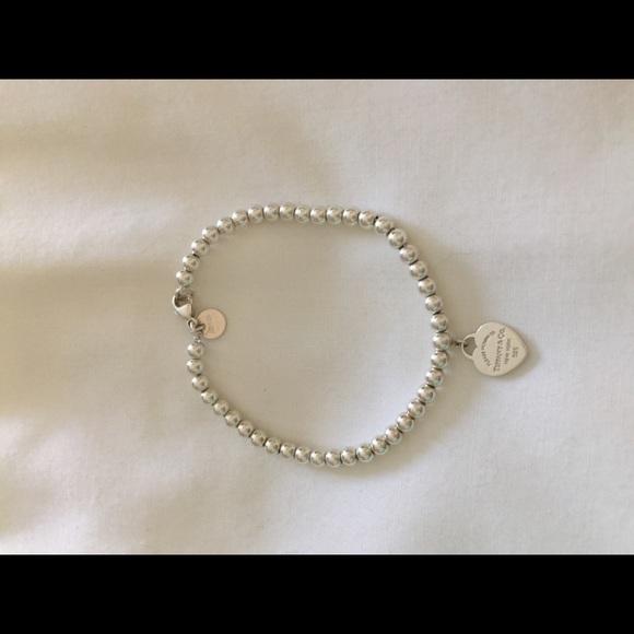 24ae31221298 Tiffany   Co 925 Sterling Silvr Mini Bead Bracelet.  M 5a245f2a4e95a33fce08ef57
