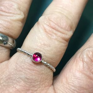 PINK!! Maine Tourmaline sterling ring