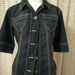 Denim jacket by Coldwater Creek petite sz 8