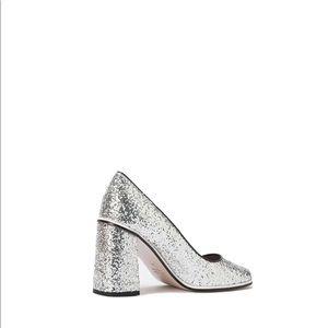 Red Valentino Glitter Block-Heeled Court Shoe NIB