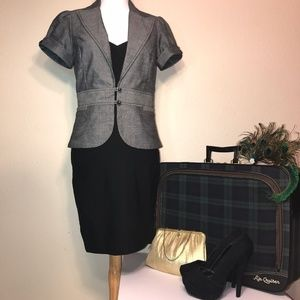 Short Sleeve Dark Grey Blazer