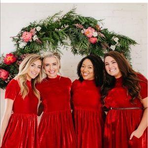 16add5991593 Dresses | Ashley Lemieux Red Velvet Midi Dress | Poshmark