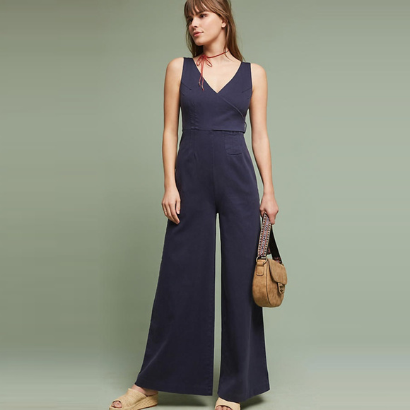 1b5d7a29aee Chino by Anthropologie Navy Jumpsuit- Size 14. NWT