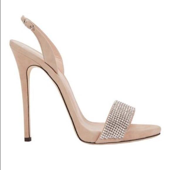 6dfcb10b1 Giuseppe Zanotti Sophie Crystal sandals nude suede