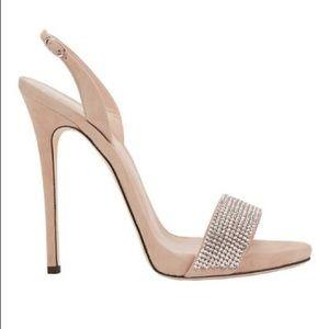 175e8b440 Giuseppe Zanotti Shoes - Giuseppe Zanotti Sophie Crystal sandals nude suede