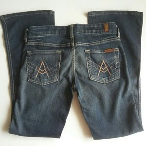 7 For All Mankind Jeans~A-Pocket Bootcut Mid-Rise