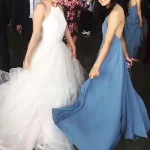 49ce3258032 Lulu s Dresses - Lulu s slate blue maxi dress (bridesmaid ...