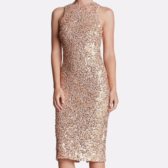 40e61051d017 Dress the Population Dresses & Skirts - Dress the Population Shawn Pink  Sequin Midi Dress