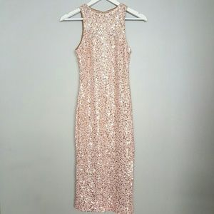 b5d2f5c89fcb Dress the Population Dresses - Dress the Population Shawn Pink Sequin Midi  Dress