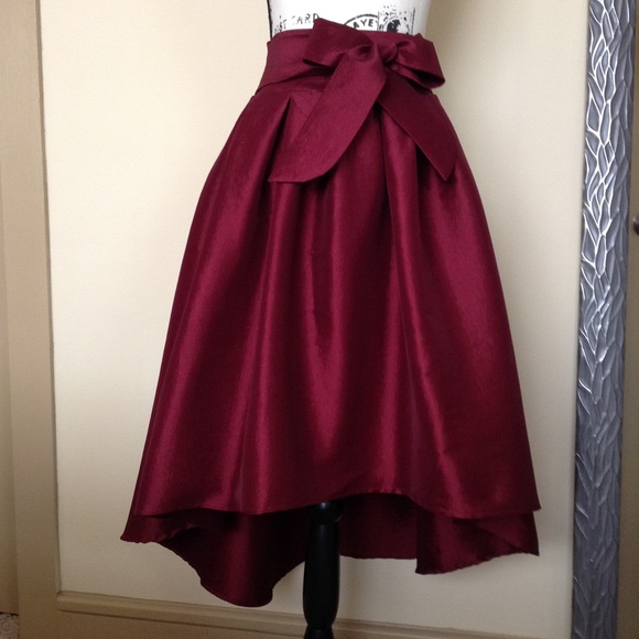 attractivefashion diverse styles hot-selling 💎HP💎 Haute Monde Dressy Skirt - Burgundy Red