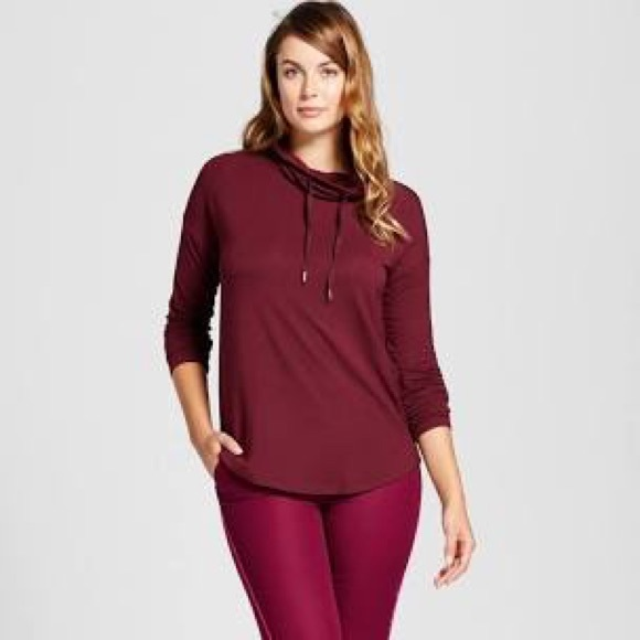 f07be19d2a0cc4 A New Day Sweaters - Maroon Cowl Neck Shirt or Tunic