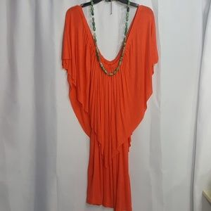 CORAL RESORT BEACH DRESS COVER UP