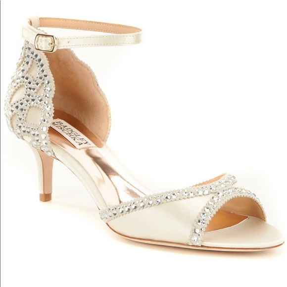 """3acadae051b76 Badgley Mischka Shoes - Badgley Mischka """"Gillian"""" jeweled kitten heels"""