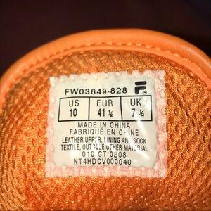 Fila Shoes | Rare Vintage Retro Orange